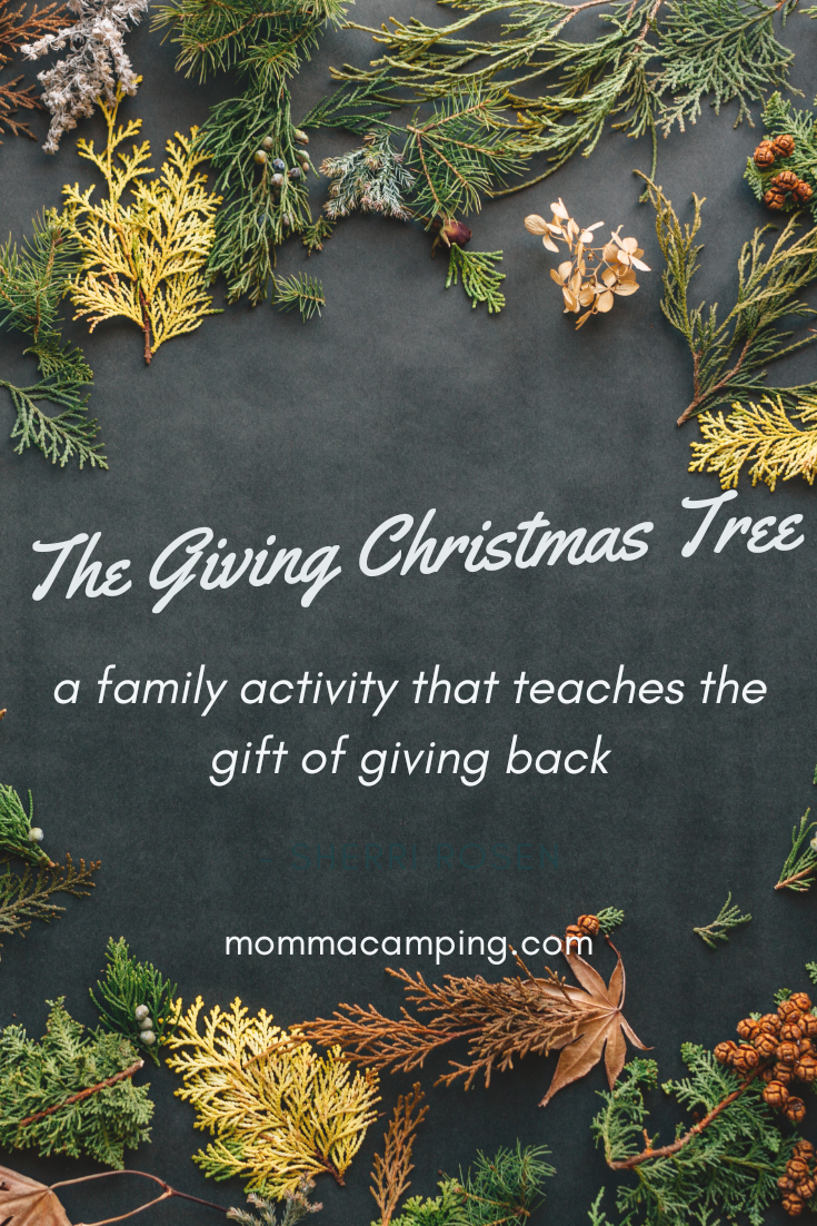 Even from a young age, children can learn about the gift of giving. The holidays are the perfect time to start this lesson. This is a super family, kid, and eco-friendly activity that you will forever cherish. #christmas #christmastree #familyactivity