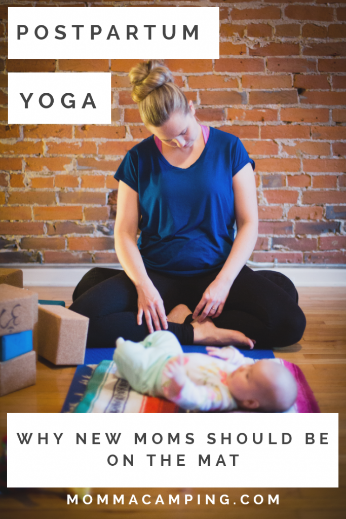 Get your FREE Postpartum Online Class and find out why new moms should be doing postpartum yoga! #postpartumyoga #yogafornewmoms #newmom